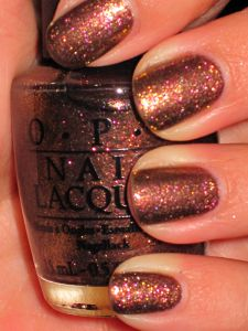 from opi's muppets collection ~ warm & fozzie  :)