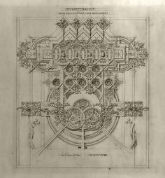 Louis Sullivan (American, 1856-1924) System of Architectural Ornament, 1922 Interpenetration