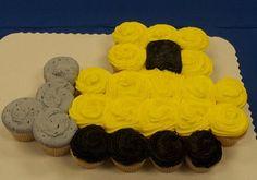 Bulldozer / Construction (Cupcake Cakes) for Noah? Cupcakes For Boys, Cute Cupcakes, Cupcake Cookies, Ladybug Cupcakes, Kitty Cupcakes, Snowman Cupcakes, Giant Cupcakes, Birthday Cupcakes, Construction Cupcakes