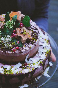 raw vegan cherry chocolate layer cake