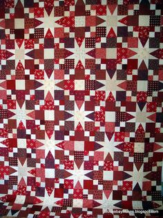 Ring of Stars by Moose Bay Musings Great example of the secondary pattern so many 2 block quilts have .Ring of Stars from the J/F 2011 issue of McCall's Quilting