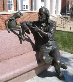 Kermit & Jim Henson - University of Maryland. I have to see this statue before I die. Seriously.