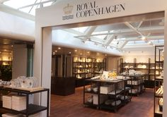 Shop design Royal Copenhagen