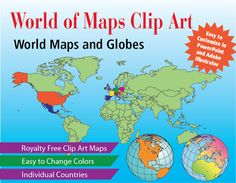 14 best world of maps clipart maps images on pinterest adobe world of maps editable clip art download collection gumiabroncs Gallery