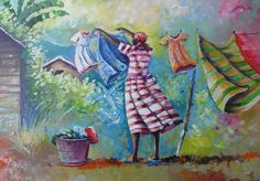 Wash Day Painting - Wash Day Fine Art Print