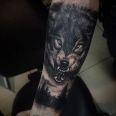 Find your best gift ideas for your family and friends! Wolf Tattoo Forearm, Wolf Tattoo Back, Small Wolf Tattoo, Wolf Tattoos, Skull Tattoos, Girl Tattoos, Tatoos, Wolf Sleeve, Wolf Tattoo Sleeve