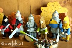 Wee Folk Art free knight and horse patterns