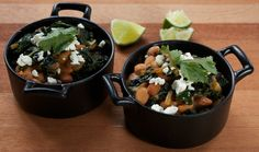 Pinto Beans with Kale and Adobo Sauce  Recipe adapted from Tyler Morris, Rye, Louisville, KY via tastingtable #Beans #Kale #Adobo_Sauce #Tyler_Morris