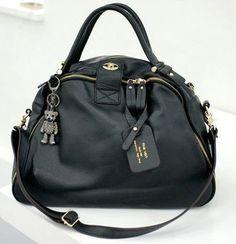 e905703cb3d A85LEATHER Lady Black Women Handbag Purse Bag Tote Hobo Shoulder Bag  Weekend Bag   eBay Leather
