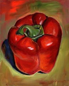 Image result for abstract pepper painting
