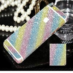 2pcs Shining Bling Bling Sticker for iPhone 6 6s / iPhone 6 Plus / iPhone 5/5s/5c/4/4s, Samsung Phones