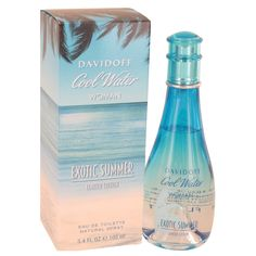 Cool Water Exotic Summer Eau De Toilette Spray (limited edition) By Davidoff Perfume, Skin Care Tools, Am Meer, Lily Of The Valley, Body Spray, Bath And Body, Vodka Bottle, Exotic, Cool Stuff