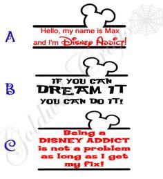 Disney Addict Vinyl Car Decal by GoldWebCrafts on Etsy, $6.00