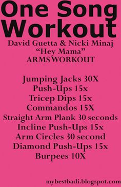 Arm workout to Hey Mama