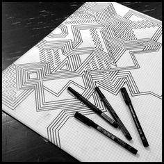 geometry asymmetry pattern positive turleza triangles Iris Calderon.
