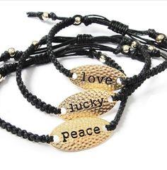 Love,lucky,peace bracelet, Men Women Bracelet,Charm Bracelet, friendship Bracelet, Cuff,Bangle,Chain,Personalized Jewelry Wholesale on Etsy, $4.99