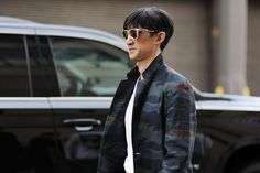 On the street at NYFW