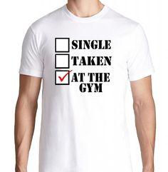 FTD Apparel Mens Single Taken At The Gym Motivation T Shirt