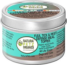 Natura Petz Organics Flea, Tick and Pest Defense Meal Topper for Dogs and Cats, 4 oz >> You can get additional details, click the image : Flea and Tick Control Cat Nutrition, Nutrition Guide, Cat Flea Remedy, Whole Food Recipes, Dog Food Recipes, Cat Allergies, Pet Supplements, Cat Fleas, Organic Herbs