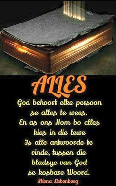 God is my alles! Scripture Verses, Bible Verses Quotes, I Love You God, Afrikaanse Quotes, Little Things Quotes, Beautiful Prayers, Prayer Quotes, Good Morning Quotes, Christian Quotes