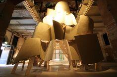 Tosetto per la Biennale Architettura, installazione by Frank Gehry http://tosettoallestimenti.com/fine-art-transport-installazioni/