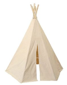 Our Kids Great Plains TeePee by Dexton play tent is made from durable cotton canvas material. Children will be entertained for hours as they decorate there very own Great Plains TeePee . Kids Tee Pee