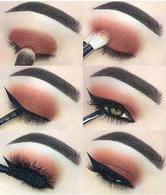 Gorgeous Makeup: Tips and Tricks With Eye Makeup and Eyeshadow – Makeup Design Ideas Red Eye Makeup, Pretty Eye Makeup, Makeup Eye Looks, Eye Makeup Steps, Stunning Makeup, Makeup For Green Eyes, Perfect Makeup, Skin Makeup, Eyeshadow Makeup