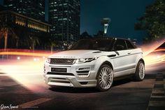 Range Rover Evoque Cabriolet z zestawem modyfikacji Hamann.  ➡ Pełen zestaw aerodynamiczny WideBody ➡ Nowe zestawy felg aluminiowych ➡ Sportowy układ wydechowy ➡ Pakiet zwiększające moc silnika  Oficjalny Dealer Hamann Motorsport w Polsce GranSport - Luxury Tuning & Concierge http://gransport.pl/index.php/hamann.html