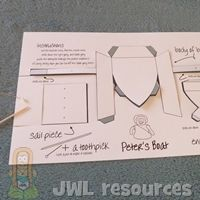 Peter on water (Matthew 14) | Make 1 BOAT TEMPLATE