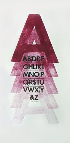 Letterpress & Wood Type Series by Sallie Harrison, via Behance