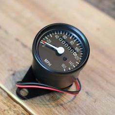 Black Mini Speedometer w/ Odometer with mounting Clamp ( 2240:60 Ratio ) - Cognito Moto