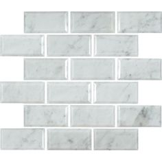 "Found it at Wayfair - Arabescato Carrara Greecian Mounted 2"" x 4"" Marble Mosaic Tile in White"
