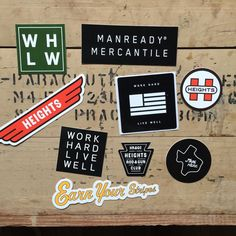 Shop Stickers   9 Pack   Manready Mercantile