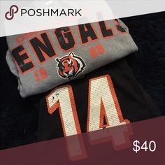 Cincinnati bengals pack!!! Bengals hoodie and jersey ! # 14!! Go Bengals!! Reebok Matching Sets