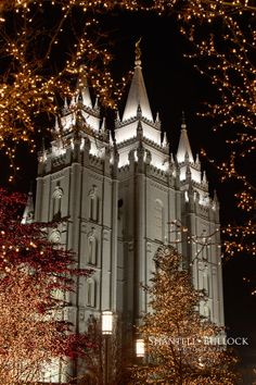 Salt Lake Temple Christmas Lights by ShantellBullockPhoto on Etsy, $10.00