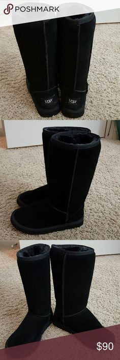 Classic Tall Black Uggs This pair of tall black Uggs have barely been worn. They are a size 6 and look brand new. UGG Shoes