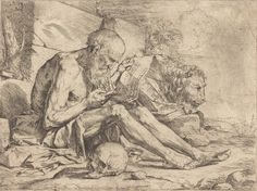 Saint Jerome Reading by Jusepe de Ribera (c. 1624) - National Gallery of Art, DC