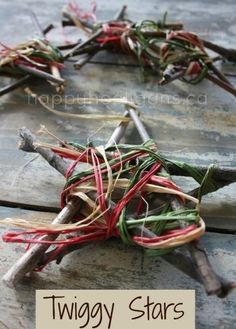 ornament made with twigs....the kids would love this!