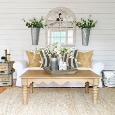 Farmhouse Family Room By