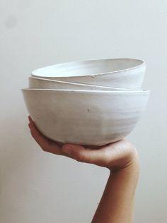 Weiße Keramik Schalen