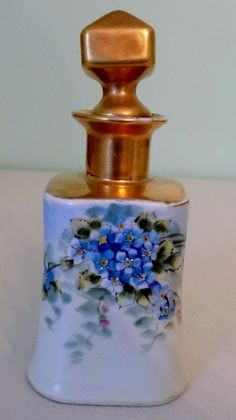 This is a very rare, old, hand painted perfume bottle. It shows some wear to the gold. E.W. Donath was a Picard artist and he started Donath Studios in Chicago. | eBay!