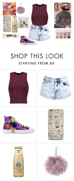 """""""Basic day"""" by jordanbond55 ❤ liked on Polyvore featuring T By Alexander Wang, Boohoo, Too Faced Cosmetics, Hershey's and Charlotte Russe"""