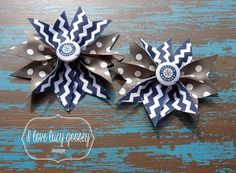 Two Seattle Mariners hairbows pigtails double by ILoveLucyGoosey, $8.00