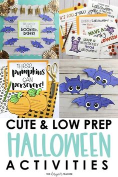 Three cute and low prep classroom activities for Halloween, including a bat craft, pumpkin craft, and letter writing activity. Preschool Learning Activities, Writing Activities, Classroom Activities, Fall Classroom Decorations, Classroom Fun, Halloween Activities, Halloween Crafts, Bat Craft, Letter A Crafts