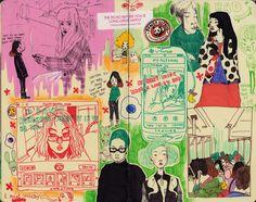 valerie choi : Photo Pretty Art, Cute Art, Art Sketches, Art Drawings, Illustration Art, Illustrations, Medical Illustration, Arte Dope, Arte Sketchbook