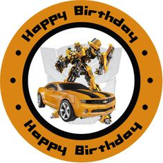 Transformers Bumblebee Personalized Birthday Stickers