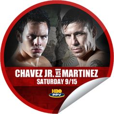 ORIGINALS BY ITALIA's #HBO #Boxing Chavez Jr vs. Martinez
