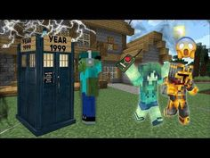 MC NAVEED TRAVELS BACK IN TIME WITH A TIME MACHINE TO FIND MARK! WE FIND A BABY ZOMBIE! Minecraft