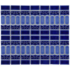 @Overstock - This glazed porcelain blue mosaic tile will stand up to both heavy-duty inside and outside use. With a water absorption factor of less than 0.5 percent, this easy-to-install tile works beautifully in bathrooms and kitchens.http://www.overstock.com/Home-Garden/SomerTile-13.125x11.5-in-Modena-Cobalt-Blue-Porcelain-Mosaic-Tile-Pack-of-10/4564968/product.html?CID=214117 $81.99