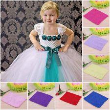 3b6ad8a8e1 Girls Kids Crochet Tube Top Waistband Headband Tutu Skirt Dress Halter Top  DIY Diy Halter Top
